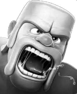"Supercell's barbarian from ""Clash of Clans"""