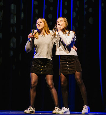 "Gabby Lantier and Margot Stack singing ""Unwritten"" by Natasha Bedingfield."