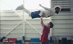 "Giants quarterback Eli Manning and wide receiver Odell Beckham Jr. recreated a classic scene from the 1987 movie, ""Dirty Dancing."""