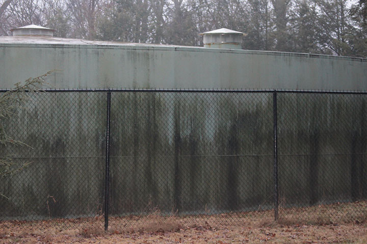 The current water tank, constructed in 1956, needs to be replaced and the plans are for a bigger 39 ft. tank.