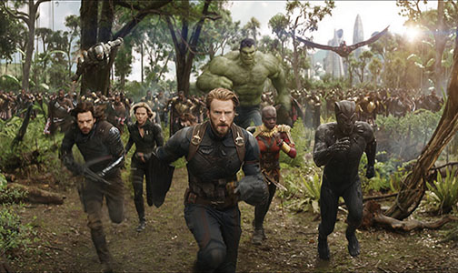 """More superheroes coming your way in """"Infinity War,""""  April 27."""