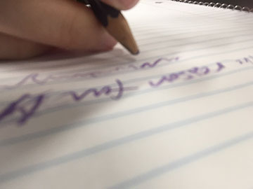 Taking notes by hand can