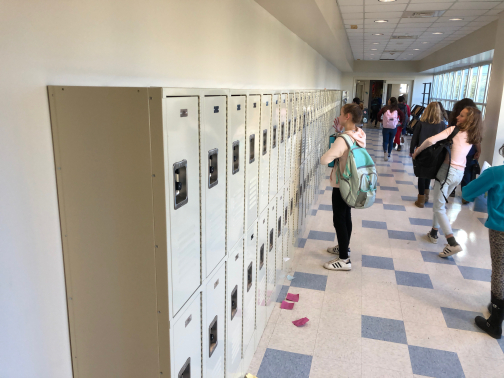 New lockers for Coleytown students  arrive just in time to store jackets for the first snow and colder weather.