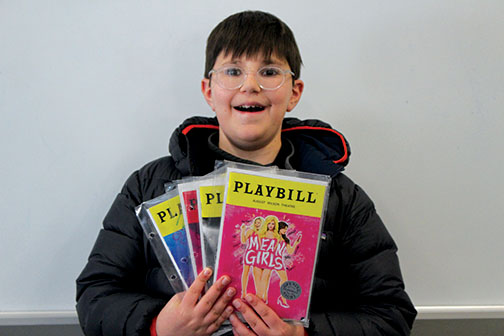 Noah keeps playbills for each of the plays he has seen.  Some have signatures of actors.