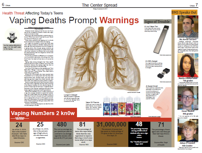 Vaping Deaths Prompt Warnings