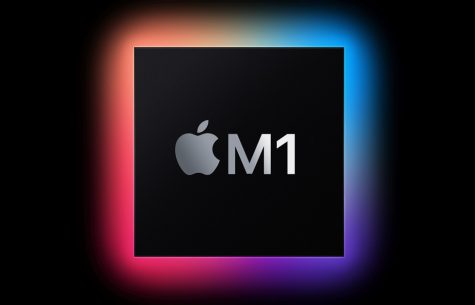 The brand new Apple M1 processor, taken from Apple