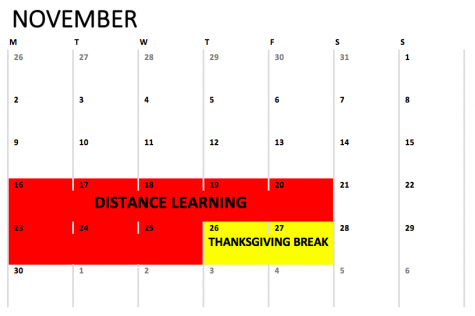 Bedford Middle School will be doing full-time distance learning from Monday, 11/16 to Wednesday, 11/25.