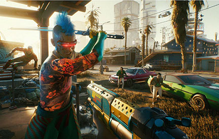 "A snapshot of ""Cyberpunk 2077"" gameplay."