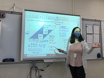 April Harvey 6th grade math teacher