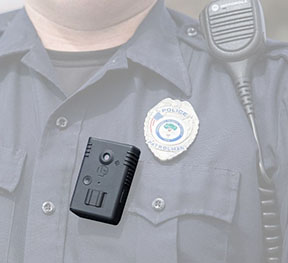 Body cameras like this one are changing policing.