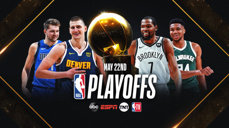 The NBA playoffs featured stars like, left from right, Luka Doncic, Nikola Jokic, Kevin Durant and  Giannis Antetokounmpo.